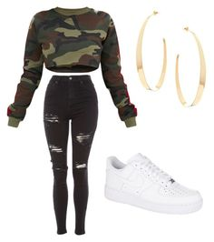 """Untitled #21"" by ines-silva-9 on Polyvore featuring Topshop, NIKE and Lana"