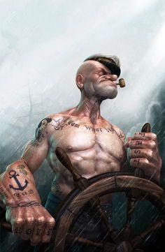 Popeye le Marin version réaliste