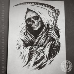 Dead Inside Graphics - Finoshed one unused sketch, this graphic is for sale now, hit me up deadinsideart if interes - Grim Reaper Art, Grim Reaper Tattoo, Tattoo Tod, Death Tattoo, Tattoo Design Drawings, Skull Tattoo Design, Triangle Tattoo Design, Tattoo Designs, Tattoo Ideas
