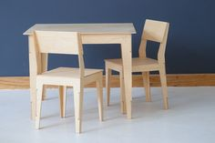 Ingvar Kids Table Set:  Kids Table & Two Chairs // 100% Birch Ply // Durable & easy to assemble kids furniture  // Pedersen + Lennard