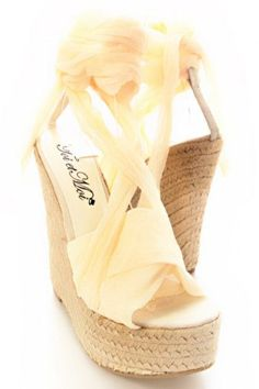 Oh my Sunshine espadrille wedges