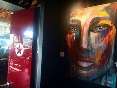 Expressionism painting by @Angela Correa  Acrilic on canvas  #Art #paint #Expressionism #protrait