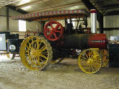 An old Russell Steam powered tractor