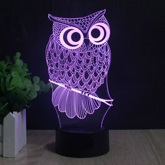 Details Specification  Adorn your bedside table or working desk with a cute owl lamp and be reminded of owl's incredible qualities. There are countless