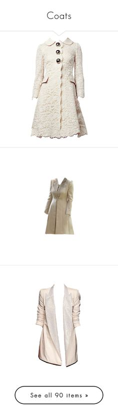 """""""Coats"""" by milenam204 on Polyvore featuring outerwear, coats, jackets, dresses, white coat, blazers, dolls, blazer jacket, pink blazer jacket and pink jacket"""