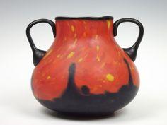 Ruckl 'Coral Shimmy' 1930s Bohemian glass vase. £295.00, via Etsy.