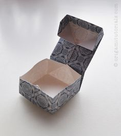 One Sheet Origami Square Box with Lid                                                                                                                                                                                 More