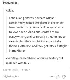 The ghost of Alexander Hamilton