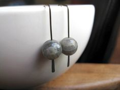 niobium earrings. labradorite earrings in grey niobium. hypoallergenic earrings. splurge. () by Splurge