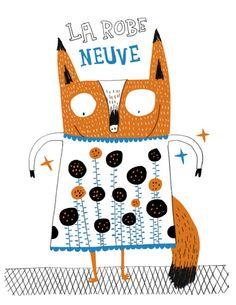 La robe neuve par Élise Gravel, disponible sur surtonmur.com.