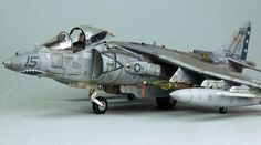 USMC AV-8B Harrier II Plus, HASEGAWA 1/48 scale. By Gary Wickham. VTOL #scale_model http://www.hsgalleries.com/gallery04/av8bgw_1.htm