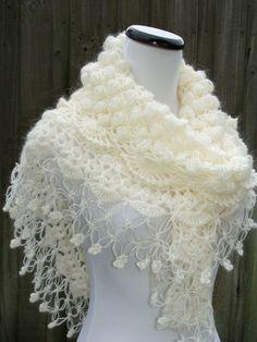 Wedding Shawl Beige Shawl Crochet Shawl Bridal Shawl