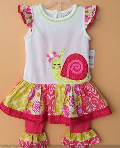 RARE EDITIONS SPRING SNAIL SET Price: $29.99, Free Shipping Options: 2T, 3T, 4T, 5, 6, 7, 8 click to purchase