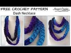 Dash Necklace Free Crochet Pattern from Maggie's Crochet - Right Handed - YouTube