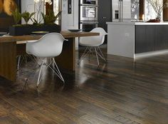 """HGTV HOME Flooring by Shaw Hardwood Flooring in style """"Mabry Mill"""" color Roan Brown. This is actually the same floor as the Montgomery. They use different names depending on where they sell in the United States. Shaw Hardwood, Oak Hardwood Flooring, Wood Tile Floors, Dark Wood Floors, Red Oak Floors, Hickory Flooring, Shops, Flooring Store, Living Room Flooring"""