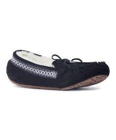 Look what I found on #zulily! Black Jane Suede Moccasin #zulilyfinds