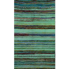 """Green Hand Woven Indian Recycled Chindi Area Rag Rug 44""""X78"""" Inch on RoyalFurnish.com, $27.99"""
