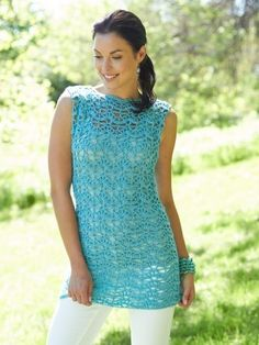 Bright and Beautiful Crochet Tunic