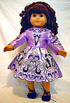 Irish dance dress on an American Girl Doll <3