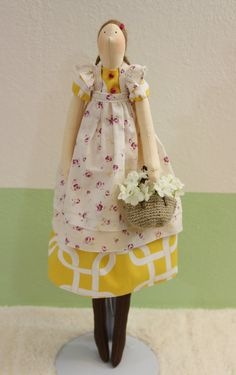 Handmade 17 Interior Dolls Tilda dolls cloth by QuiltNDollStory