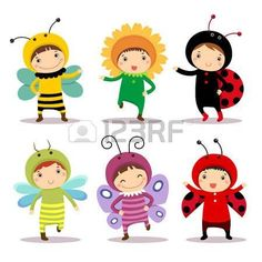 Cute kids wearing insect and flower costumes. Illustration of cute kids wearing , Cartoon Butterfly, Butterfly Clip Art, Butterfly Drawing, Costume Fleur, Flower Costume, Butterfly Costume, Birthday Charts, Kids Vector, Photo Images