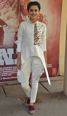 Taapsee Pannu in a Samant Chauhan outfit & Riddhi Mehra shoes