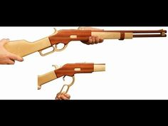 First try to make wooden rubber gun - YouTube
