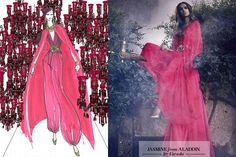 Harrods' Disney Princesses Jasmine designed by Escada