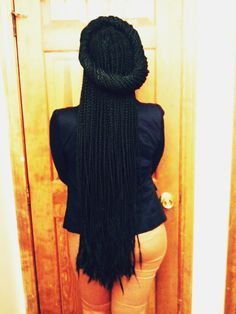 NO matter how long your box braids been up you can still style them... Trying this soon!