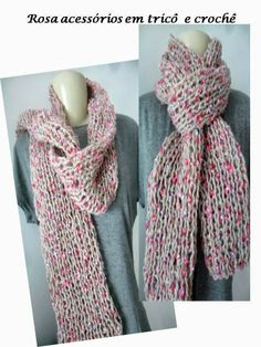 Cachecol mescladinho, scarf, tricot, knitting, inverno, winter by www.rosaacessorios.blogspot.com