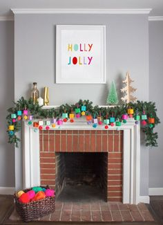 Love the happy and bright colors here for Christmas