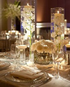Tulip Water Vases AND White Roses Vz 31 Super Chic Wedding Reception And Ceremony Ideas From Edge Flowers