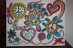 la paix,acrylique