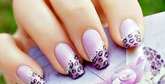 love the leopard and lilac!     #leopard  #lilac  #gel  #nails