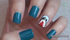 #gkSpotlight: Shark Week Nails by @MissJenFABULOUS