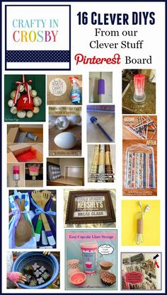 16 Clever DIY's - our Pinterest Picks