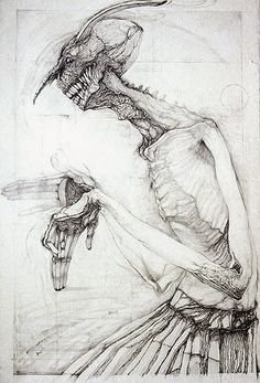 第1回大賞作品:池田俊彦「笑う門番 壱」, copyright :Ikeda Toshihiko Dark Art Drawings, Industrial Design Sketch, Macabre Art, Occult Art, Arte Horror, Creature Design, Conceptual Art, Black Art, Printmaking