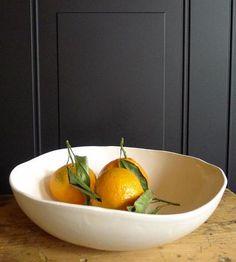 Wide Organic Shape Serving Bowl by Jessie Lazar Ceramics