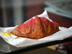 Raspberry-Almond Croissant at  Mille-Feuille Patisserie  552 LaGuardia Place, New York, NY 10012. (June 12)