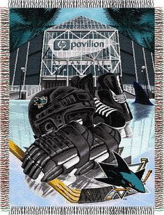 NHL San Jose Sharks Tapestry Throw