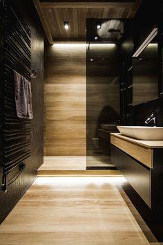 Baño negro moderno #bañosmodernos