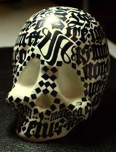 Calligraphic Skull on the Behance Network