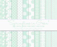 Just Peachy Designs: Free Green Digital Paper Set