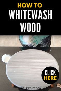 Planning to refresh your space? If you like thr rustic look, whitewashing wood is a great way to create a beautiful, weathered look on any home project. Click on for our tutorial! #thesawguy #woodworkingproject #diyfurniture #furnituremakeover #rusticinteriors #rusticstyle #diyideas