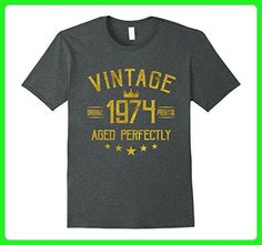 Mens Vintage 1974 T-Shirt 43 years old B-day 43rd Birthday Gift XL Dark Heather - Birthday shirts (*Amazon Partner-Link)
