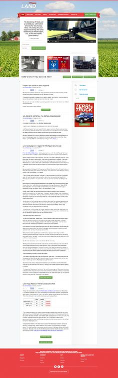 Terri Lynn Land Website. Launched Jan. 2014.