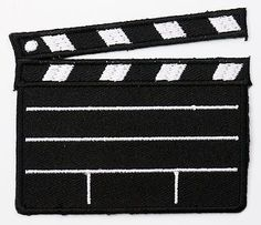MOVIE / FILM PRODUCTION  CLAPPERBOARD  Logo Embroidered Iron-On Patch!