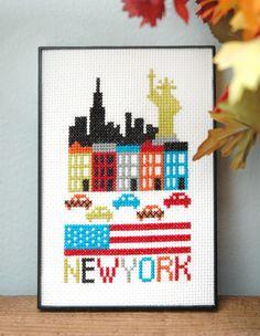 New York Cross Stitch Pattern Instant Download