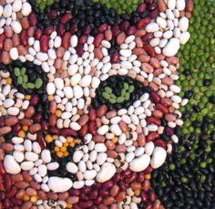 Bean Mosaic Cat by ~yarnuh on deviantART