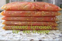 Every Creative Endeavor: How to Make Stewed Tomatoes (For Your Freezer)